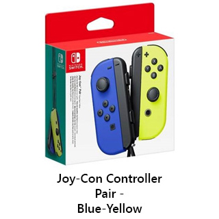 Switch JoyCon Controllers Blue and Green