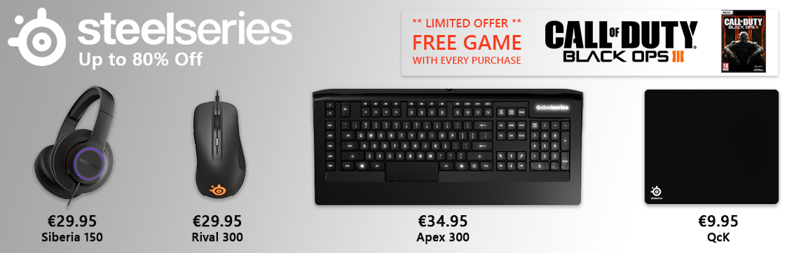 Steelseries plus Free COD